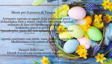Proposta per il menù di Pasqua 2021 (asporto)